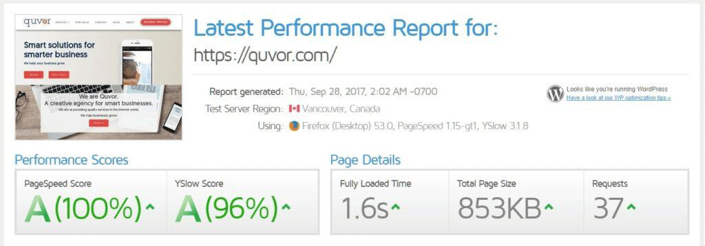 wordpress-speed-testing-results-gtmetrix